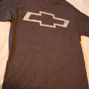 GM Brand Shirts - Boys Chevy Dark Grey T-Shirt Small